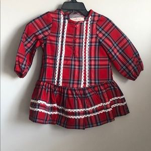 12 Month Plaid Holiday Dress